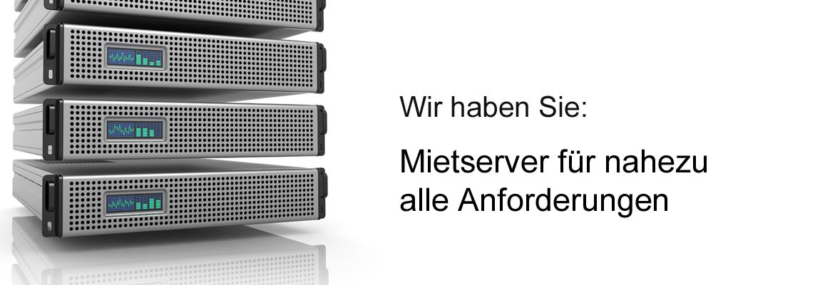 Mietserver für alle Anforderung, Betreute Server, Colocation, Virtuelle Server